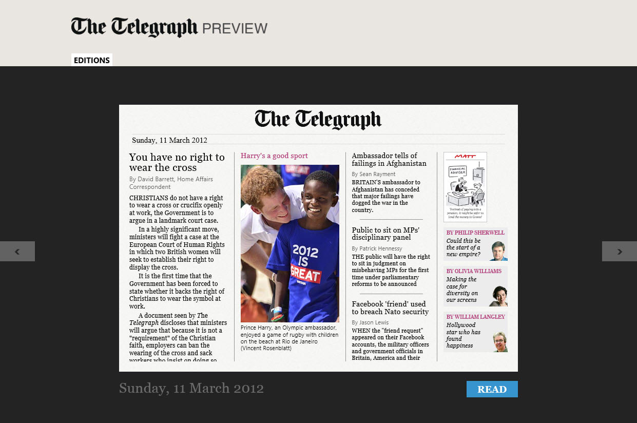 The Telegraph per Windows 10