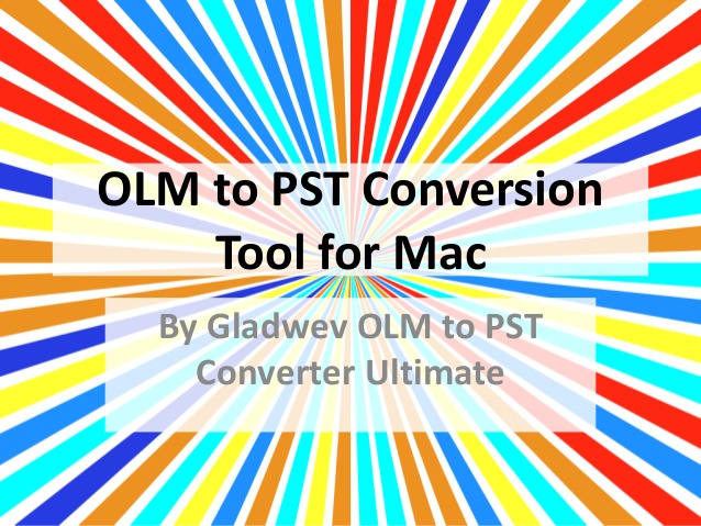 OLM to PST Converter Ultimate 1.9.7