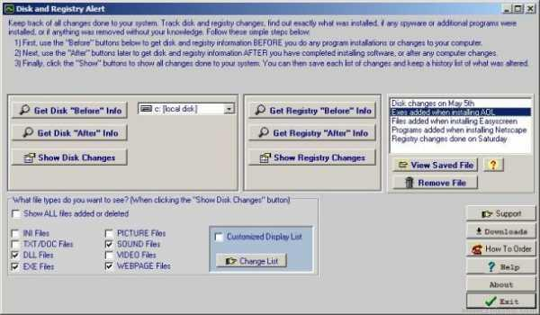 Disk and Registry Alert