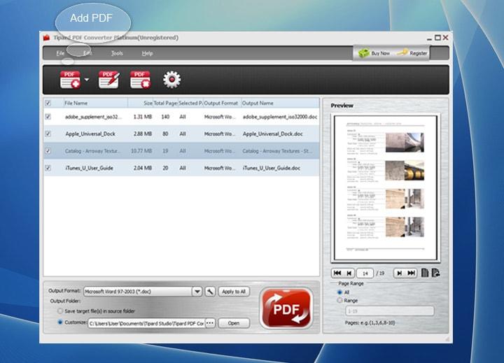 Tipard PDF Converter Platinum