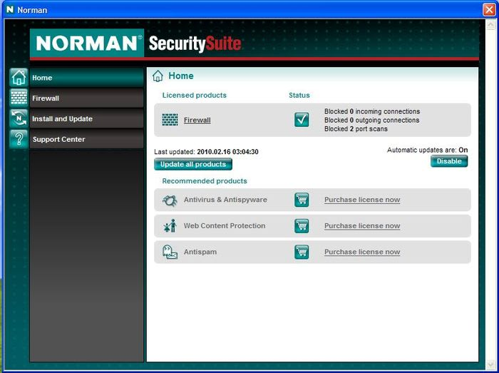 Norman Personal Firewall