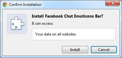 Facebook Chat Emoticons Bar