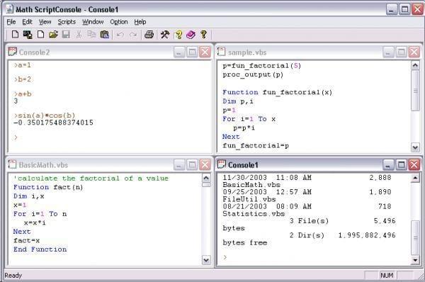 Math ScriptConsole