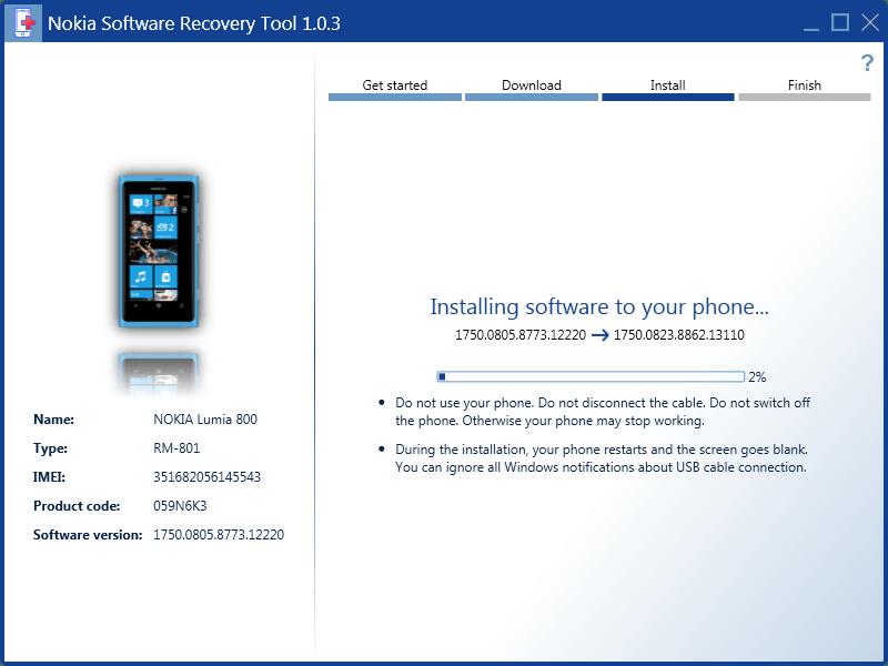 скачать программу Lumia Software Recovery Tool - фото 6