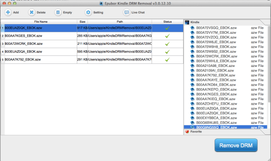 Epubor Kindle DRM Removal for Mac