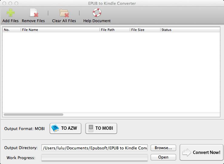 EPUB to Kindle Converter for Mac