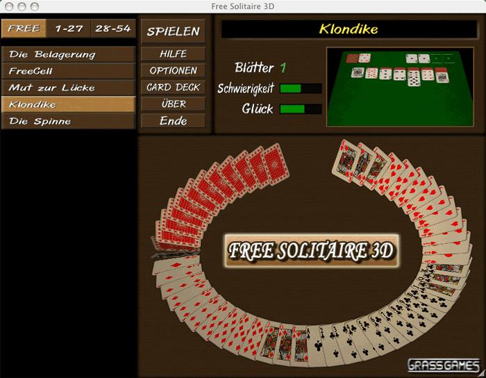 GrassGames Free Solitaire 3D