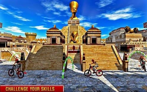 Rooftop Bicycle Stunts Rider