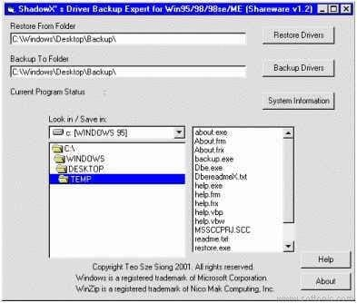 Shadow's Driver Backup Expert