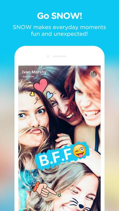 SNOW - Selfie, Motion sticker, Fun camera