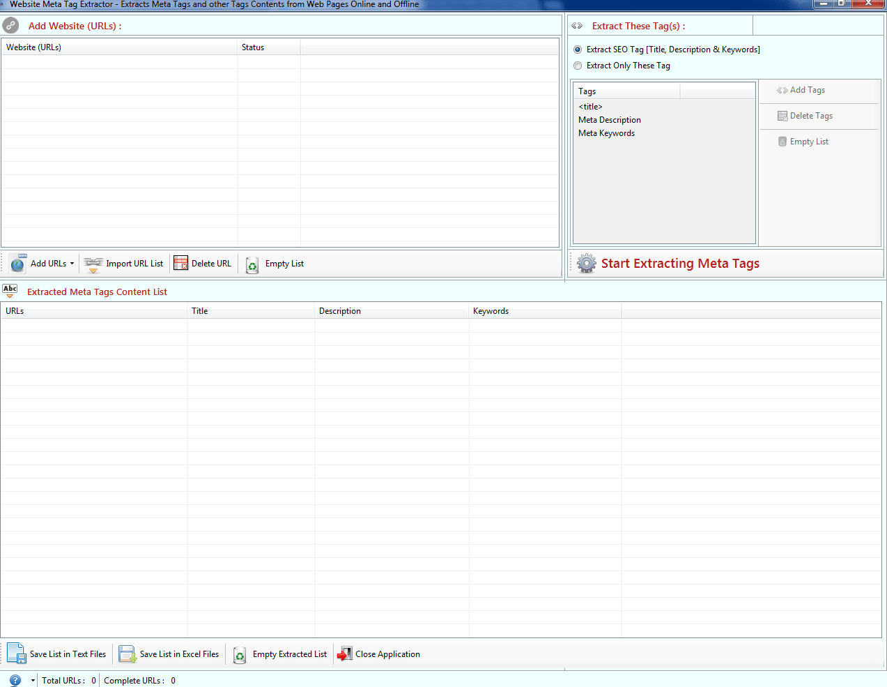 Website Meta Tag Extractor