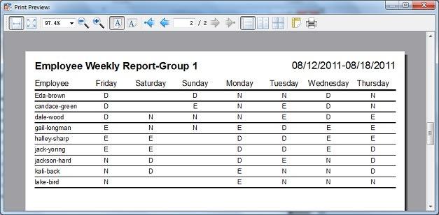 Auto Employee Schedule - Download