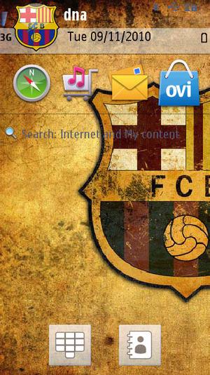 Thème FC Barcelona pour Nokia