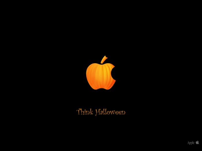 Think Halloween Papel de parede