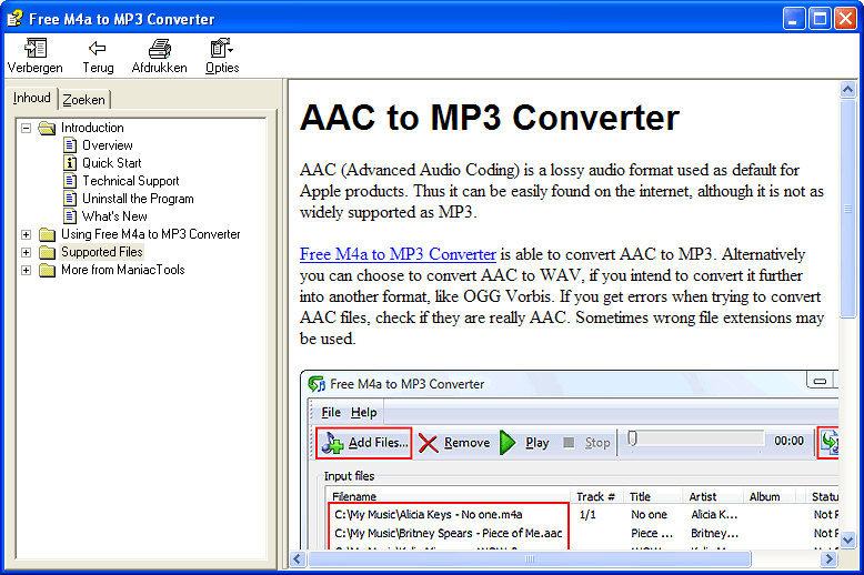 Free M4a to MP3 Converter | ManiacTools