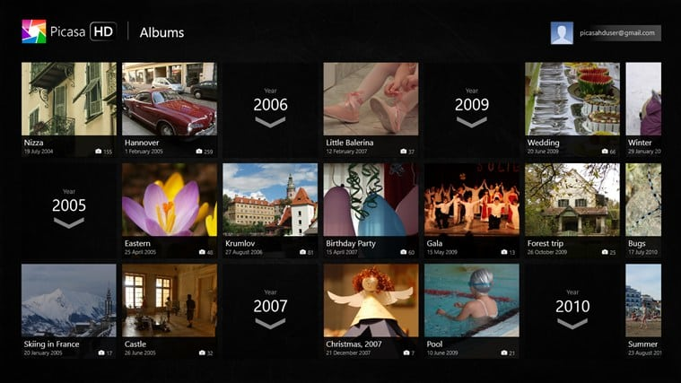 Picasa HD voor Windows 10