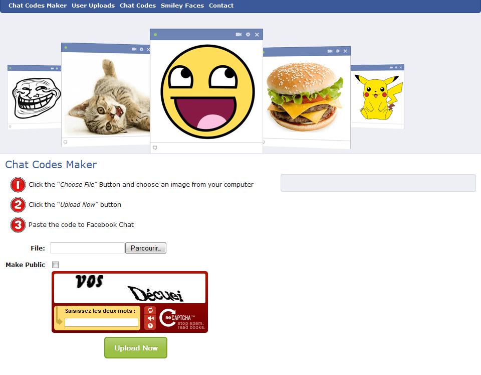 Facebook Chat Codes Maker