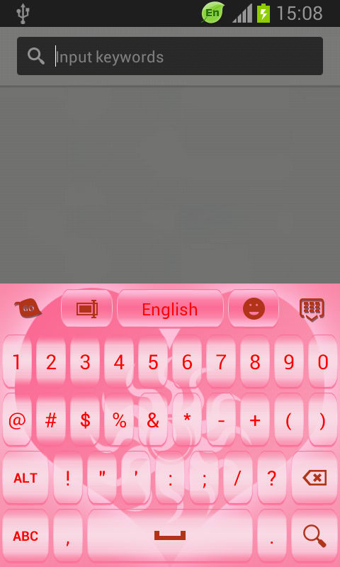 GO Keyboard Heart Pink