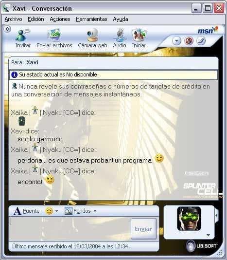Splinter Cell MSN Messenger Kit
