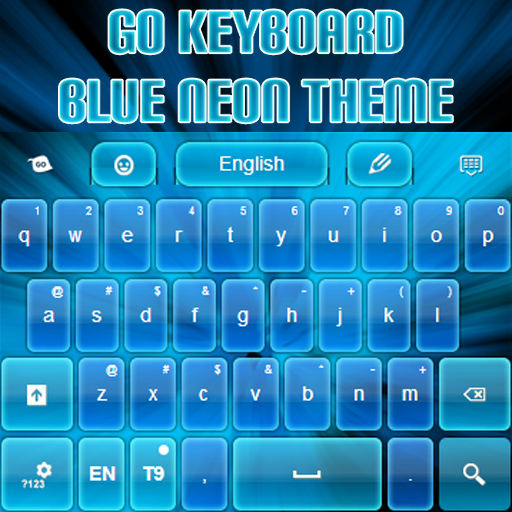 GO Keyboard Blue Neon Theme