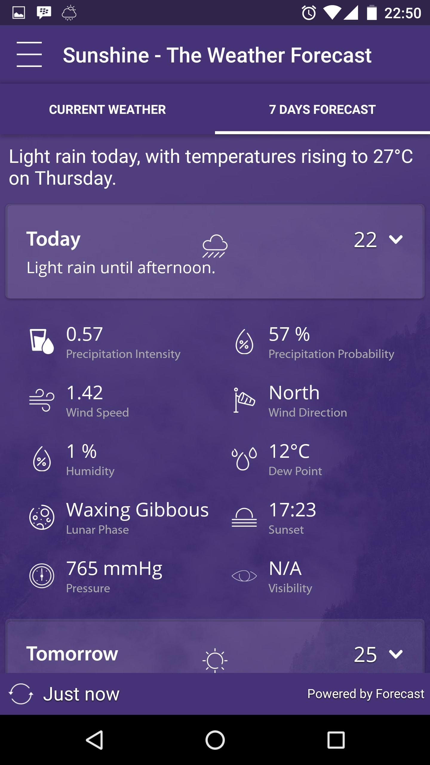 Sunshine Weather Forecast