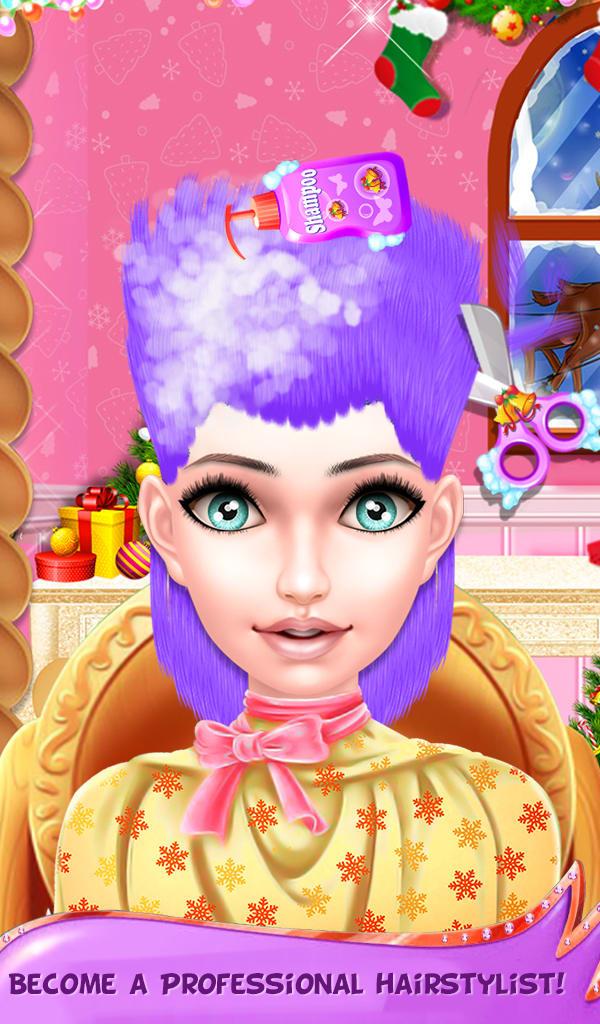 Christmas Girl Hair Salon