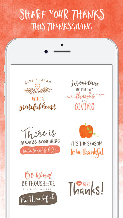 Thanksgiving for iMessage Stickers