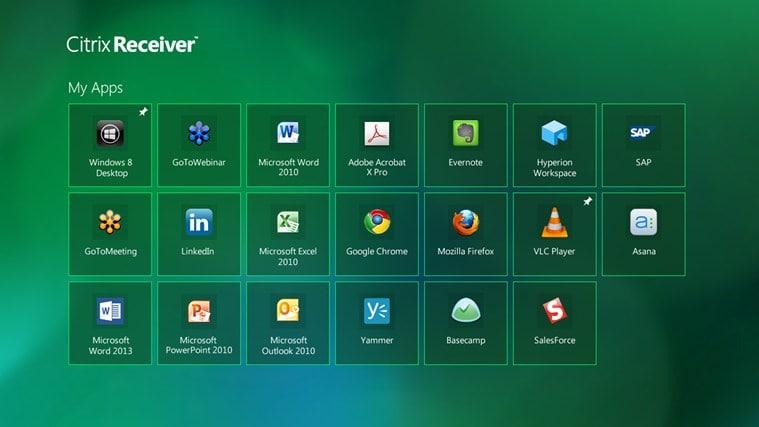 Citrix Receiver for Windows 10