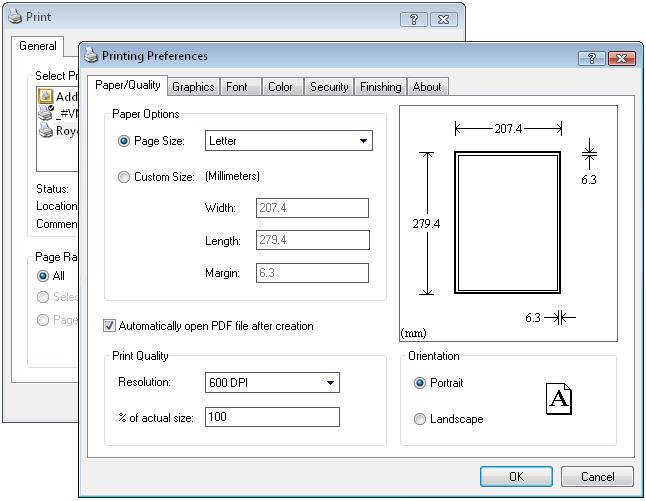 Royce PDF Printer