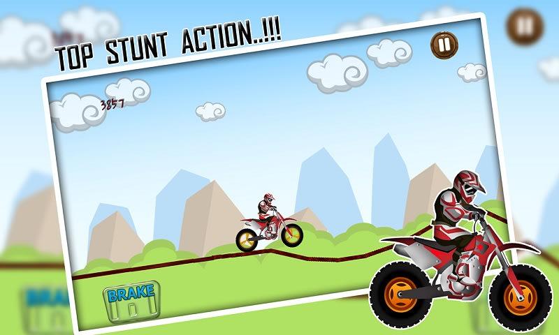 Speedy BMX Bike Hill Race