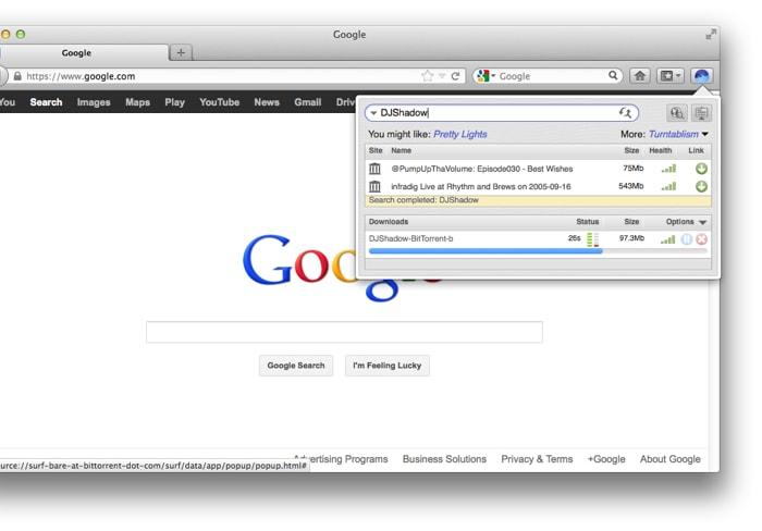 BitTorrent Surf