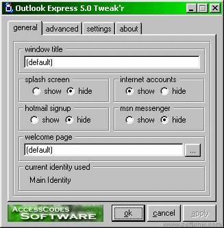 Outlook Express Tweak'r