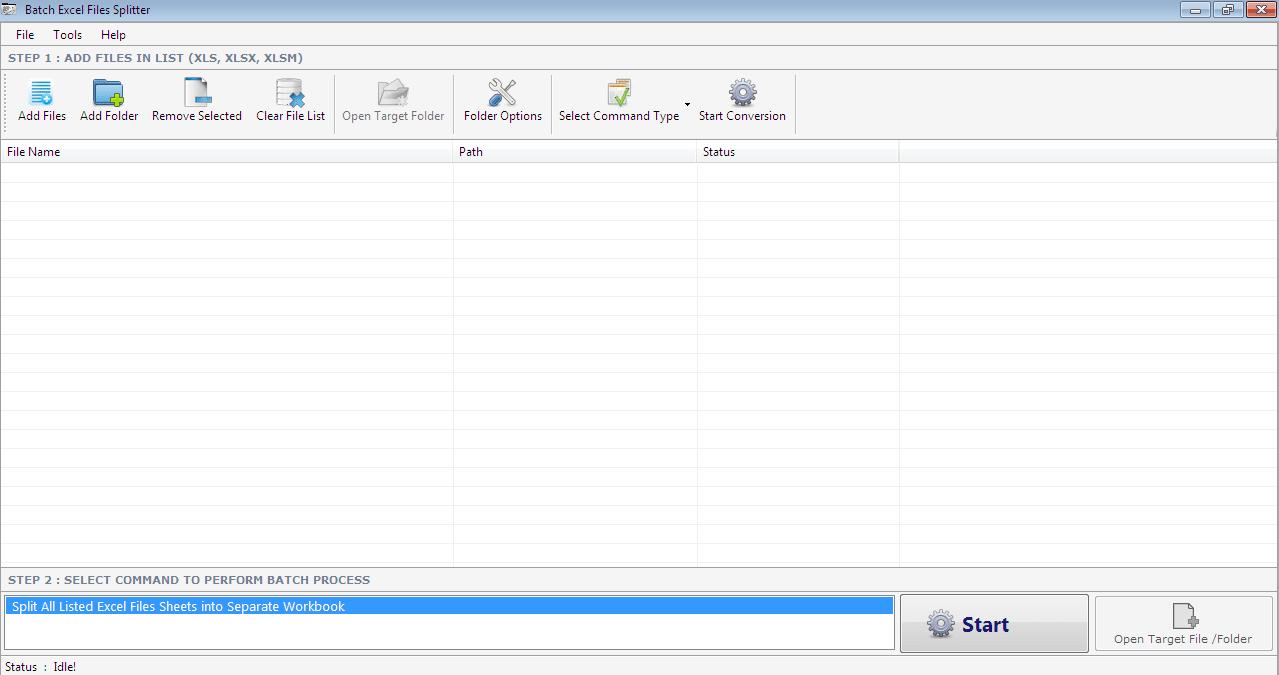 Batch Excel Files Splitter