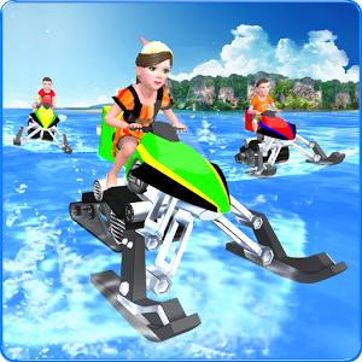 Kids Water Bike Racing 3D