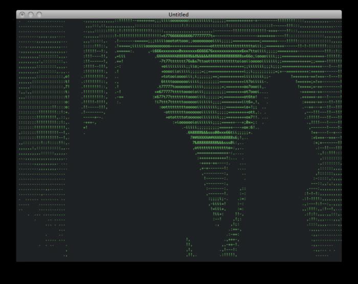 ASCII Projecktor