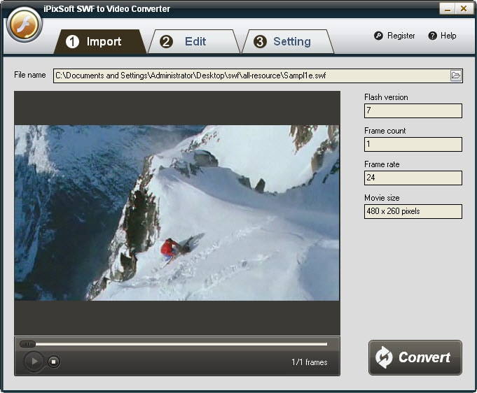 iPixSoft SWF to Video Converter