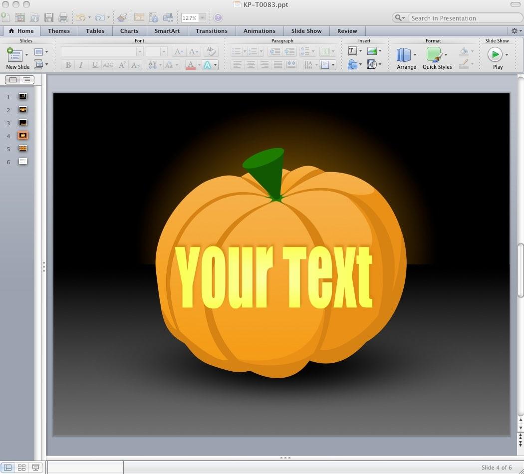 Halloween - Pumpkins for PowerPoint