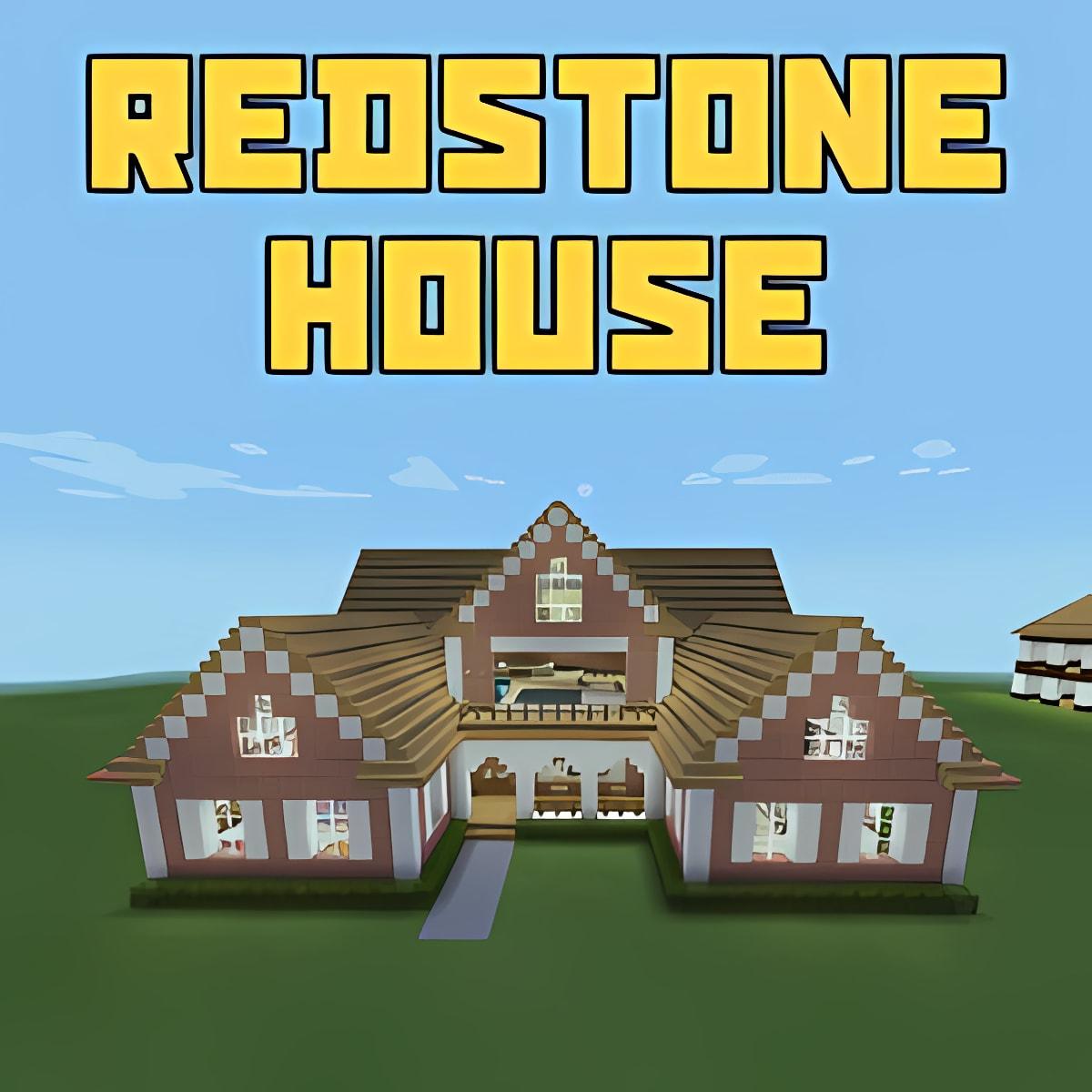 Redstone House Map Minecraft 1.0