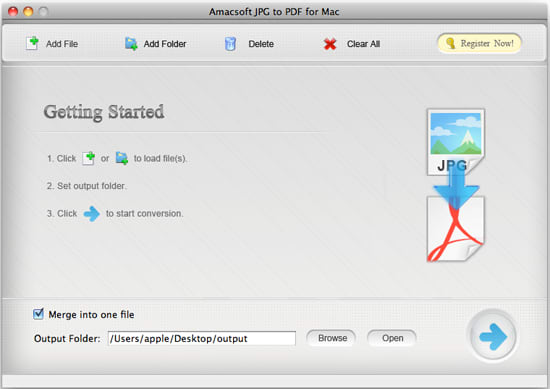 Amacsoft JPG to PDF for Mac