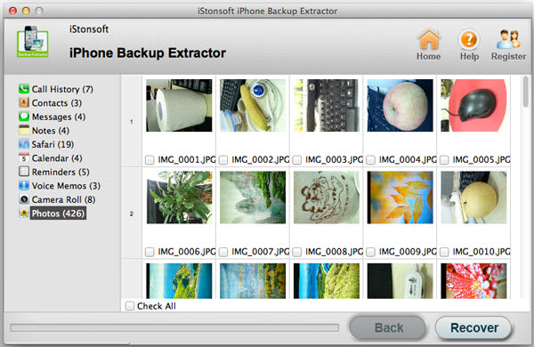 iStonsoft iPhone Backup Extract for Mac