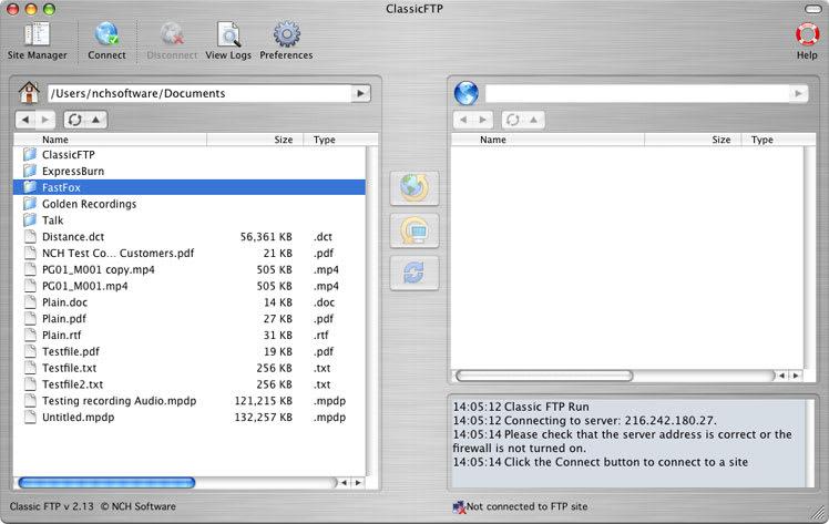 Classic FTP Free Mac FTP Software