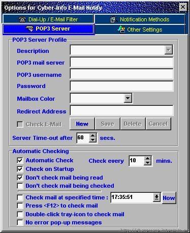 Cyber-Info E-Mail Notify