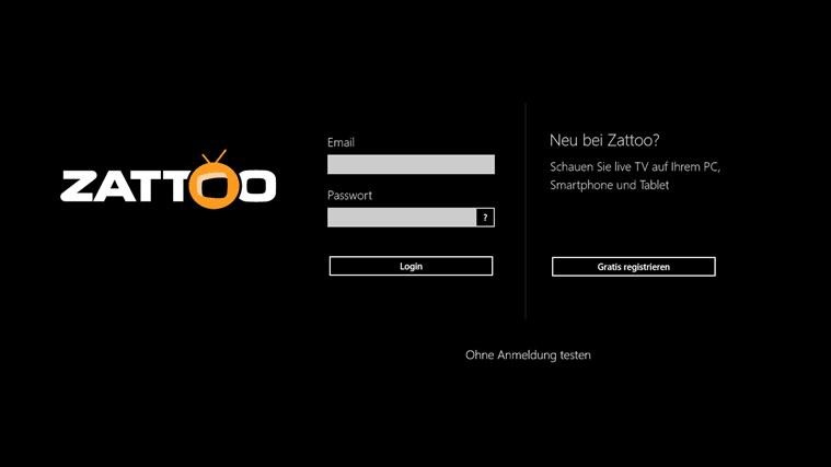 Zattoo Live TV for Windows 10