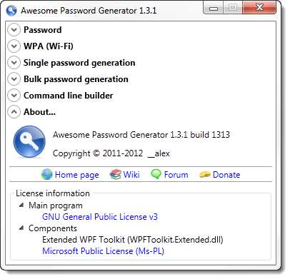 Awesome Password Generator
