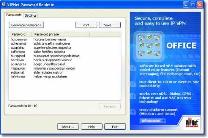 ViPNet Password Roulette