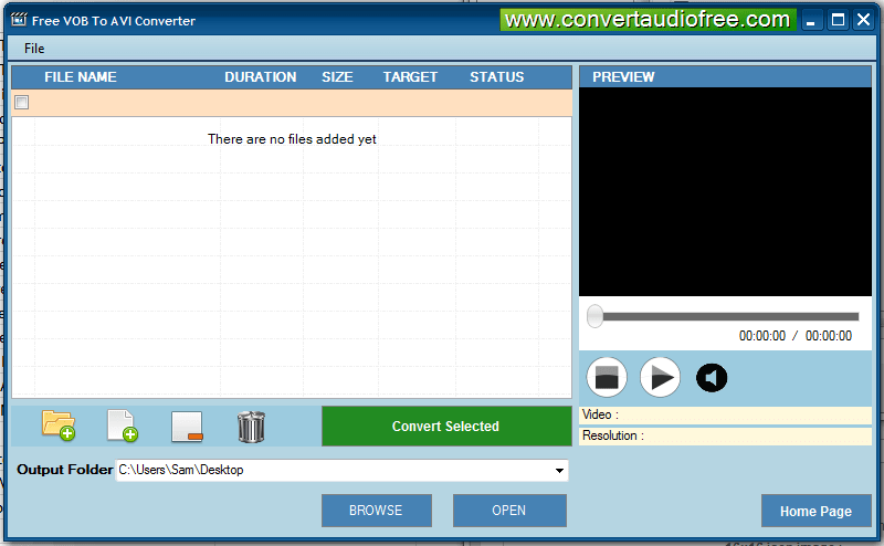 Free VOB to AVI Converter