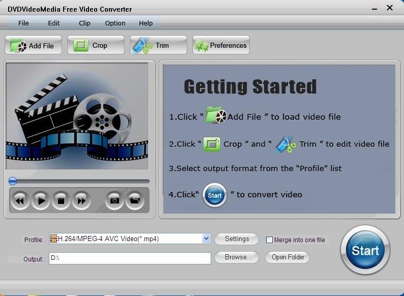 DVDVideoMedia Free Video Converter