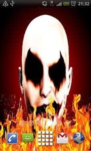 Evil Clown on Fire