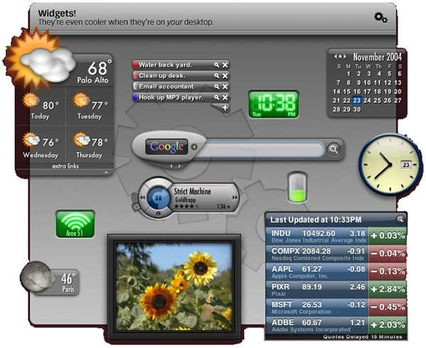 Yahoo! Widget Engine