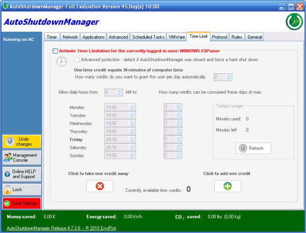 Auto Shutdown Manager